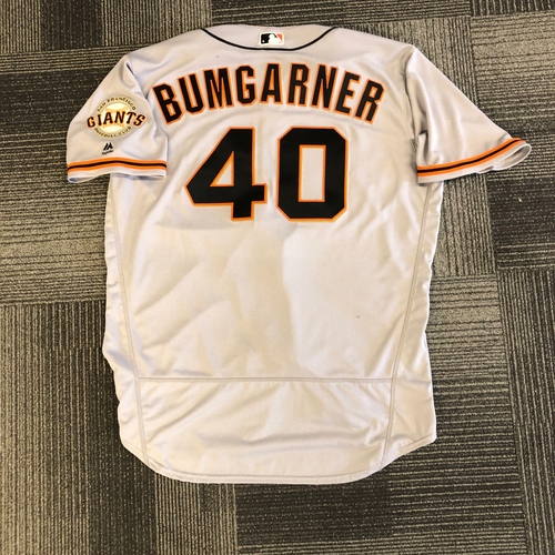 Photo of 2017 Team Issued Road Jersey - #40 Madison Bumgarner - Size 50