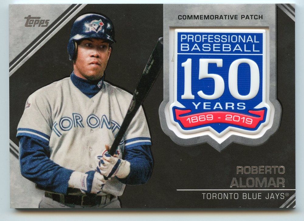 2019 Topps 150th Anniversary Manufactured Patches #AMPRA Roberto Alomar S2
