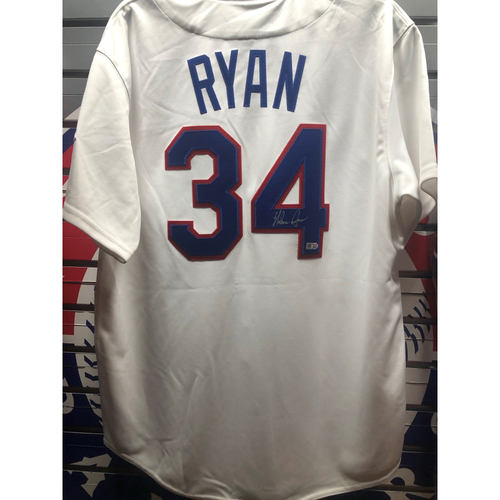 Photo of Nolan Ryan Autographed White Mitchell & Ness Jersey