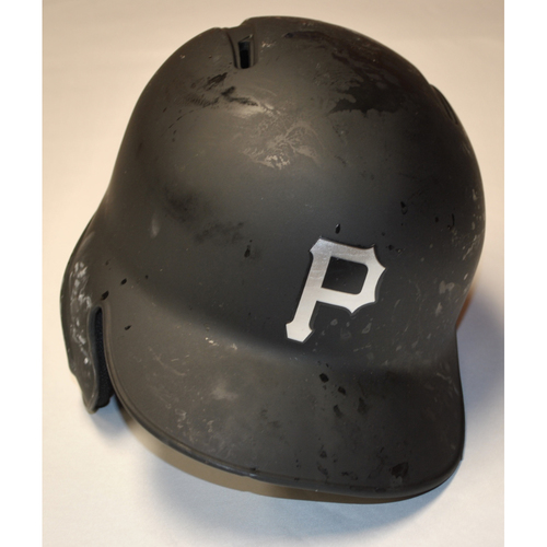 "Photo of Bryan ""B-REY"" Reynolds Pittsburgh Pirates Game-Used 2019 Players' Weekend Helmet (Left-Handed)"