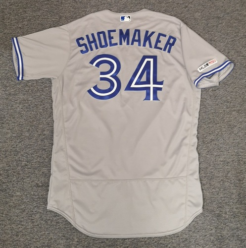 Photo of Authenticated Team Issued Jersey: #34 Matt Shoemaker (2019 Season). Size 48