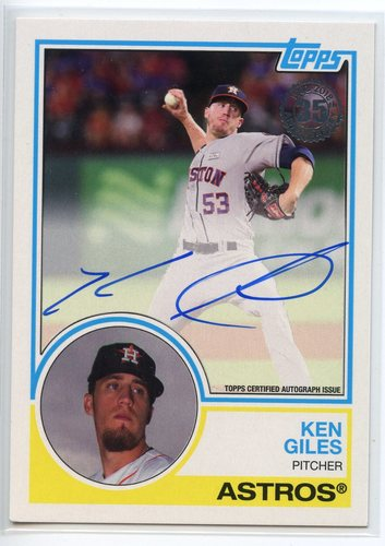 Photo of 2018 Topps '83 Topps Autographs #83AKGI Ken Giles S2