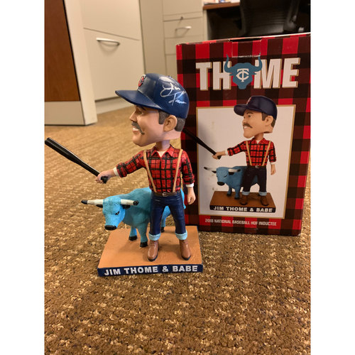 Photo of Jim Thome Autographed Bobblehead