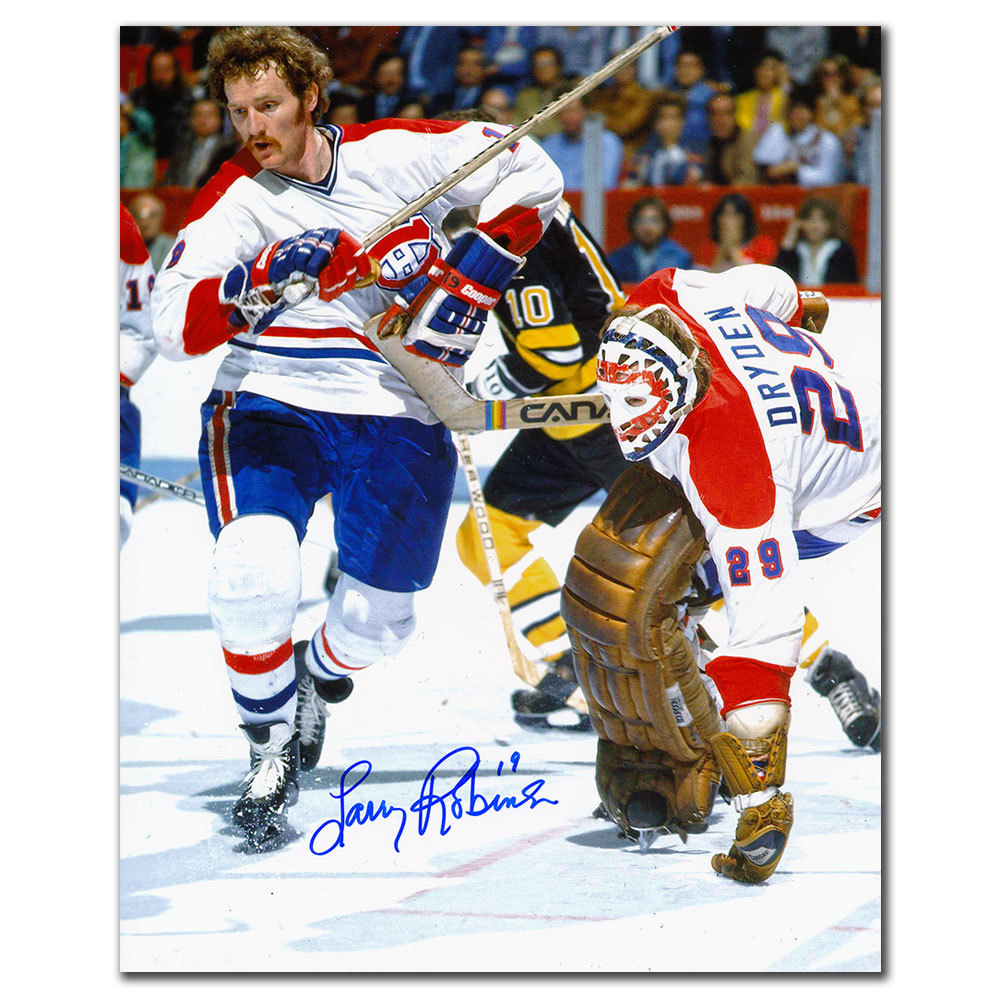 Larry Robinson Montreal Canadiens DRYDEN Autographed 8x10