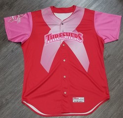 Photo of 2017 Clearwater Threshers Pitch for Pink Game Day Jersey
