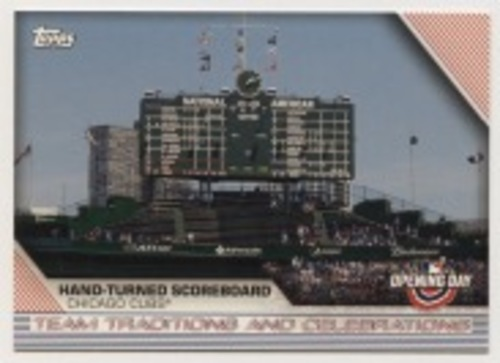 Photo of 2020 Topps Opening Day Team Traditions and Celebrations #TTC4 Hand-turned Scoreboard