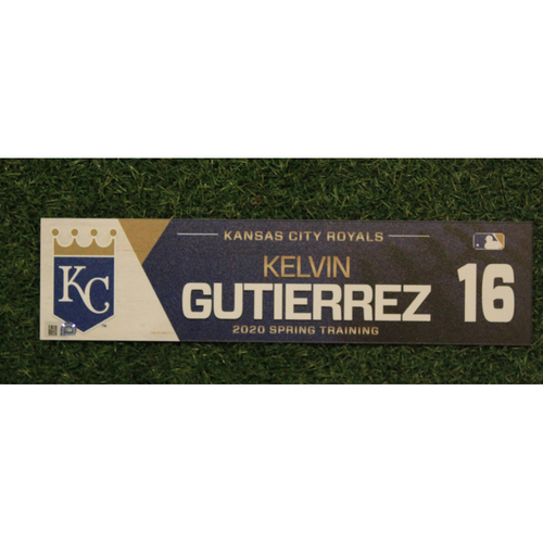 Photo of Game-Used Spring Training Locker Tag: Kelvin Gutierrez #16