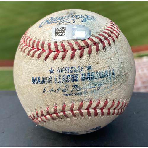 Photo of Cardinals Authentics: Game Used Baseball Pitched by Jack Flaherty to Travis Demeritte, Daz Cameron, Austin Romine *Demeritte Strikeout, Cameron Walk, Romine Foul*