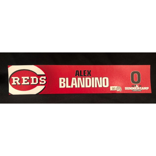 Photo of Alex Blandino -- 2020 Summer Camp Locker Tag -- Team-Issued