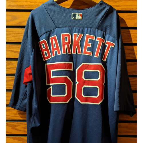 Photo of Coach Andy Barkett #58 Team Issue Blue Batting Practice Jersey