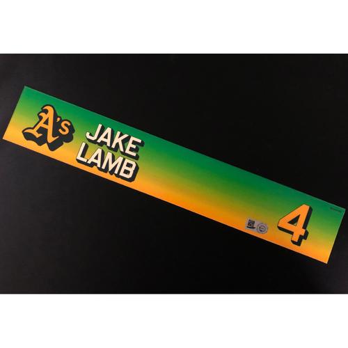Photo of Game-Used 2020 Season Locker Nameplate - Jake Lamb