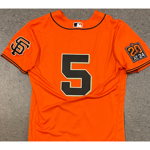 Photo of 2020 Team Issued Orange Home Alt Jersey - #5 Mike Yastrzemski - Size 42