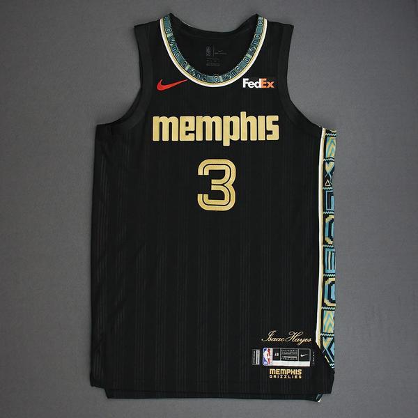 Image of Grayson Allen - Memphis Grizzlies - Game-Worn City Edition Jersey - 2021 NBA Playoffs