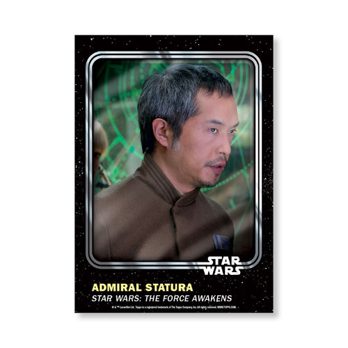 Admiral Statura 2016 Star Wars Card Trader Base Poster - # to 99