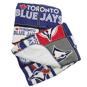 Toronto Blue Jays Sherpa Lined Patch Throw by Gertex