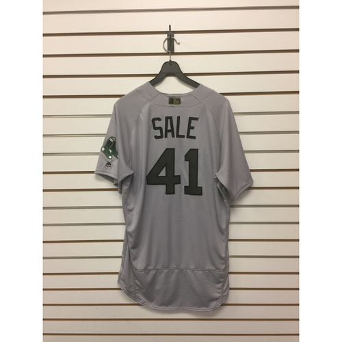 Chris Sale Game-Used May 29, 2017 Memorial Day Road Jersey