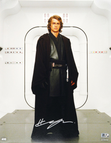 Hayden Christensen as Anakin Skywalker Autographed in Sliver Ink 11x14 Photo