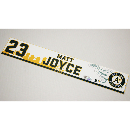 Matt Joyce 2017 Home Clubhouse Locker Nameplate