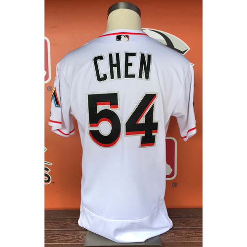 Photo of Wei-Yin Chen 2017 Home Opener Game-Used Jersey - Size 46