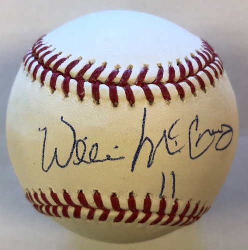 Photo of Willie McCovey Autographed Baseball