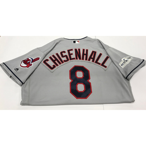 Photo of Lonnie Chisenhall Team-Issued 2017 Postseason Road Jersey