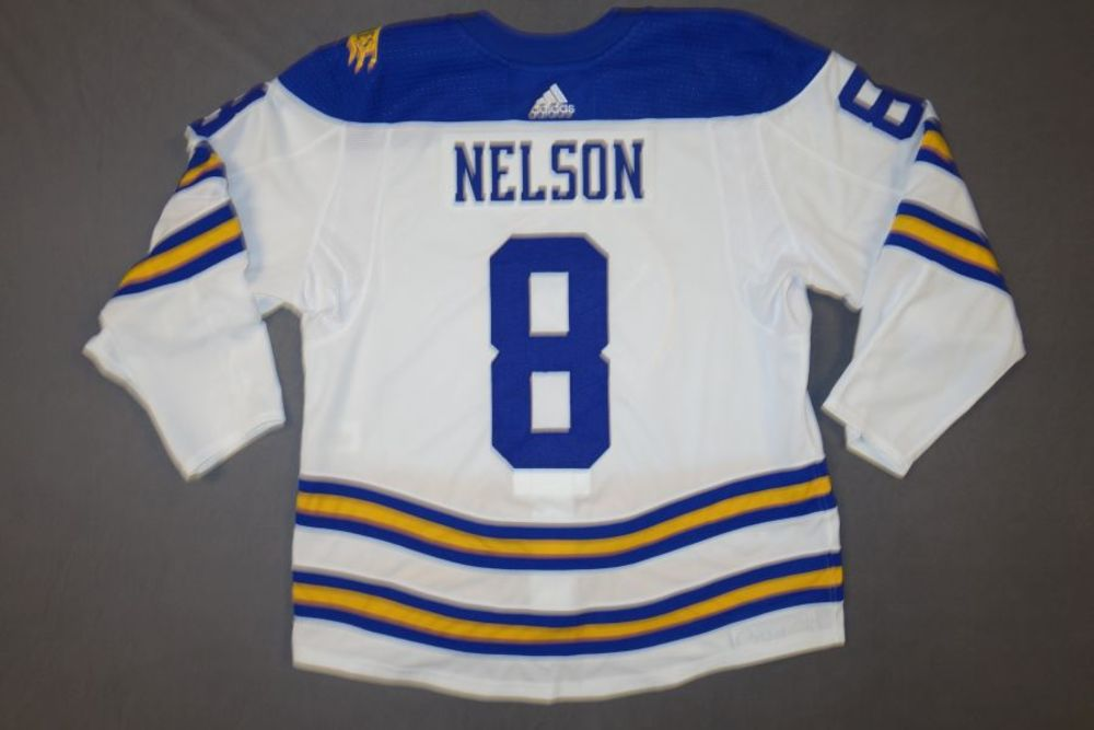 finest selection 81dbf 970b8 Casey Nelson Buffalo Sabres 2018 Third Jersey - Worn on ...