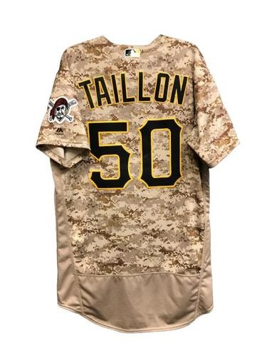Photo of Jameson Taillon Game-Used Jersey - 5.1 IP, 2 ER, 8 SO, Winning Pitcher