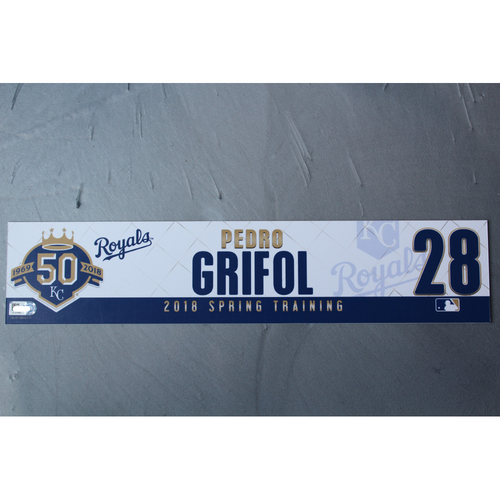 Photo of Spring Training Locker Nameplate: Pedro Grifol