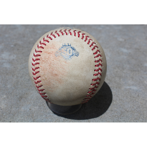 Photo of Game-Used Baseball: Yoan Moncada 77th Career Hit (CWS at KC - 4/29/18)
