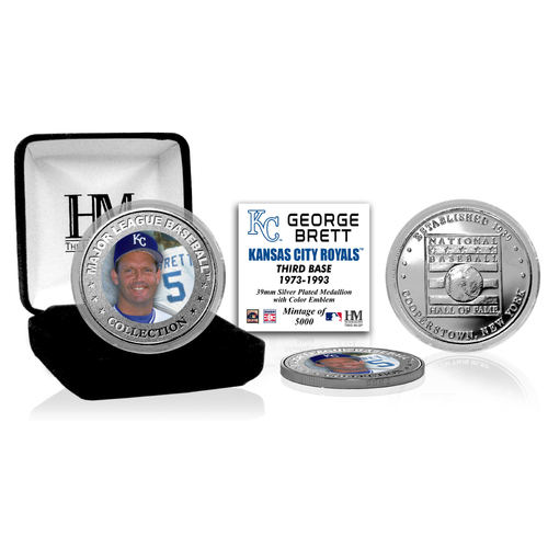 Photo of George Brett Baseball Hall of Fame Silver Color Coin