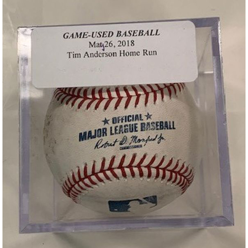 Photo of Player Collected Baseball: Tim Anderson Home Run