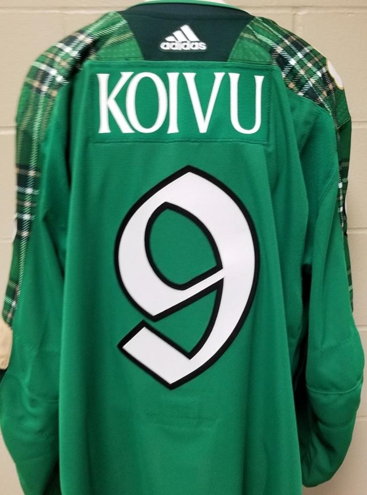 Mikko Koivu Minnesota Wild 2019 St. Patty's Day Warm-Up Jersey