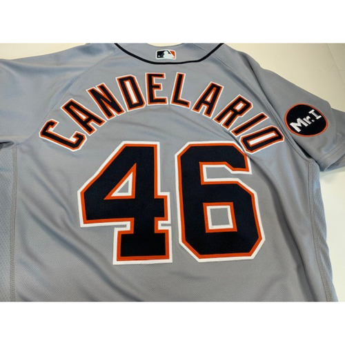 Game-Used Road Jersey: Jeimer Candelario