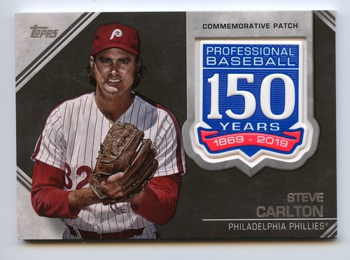 Photo of 2019 Topps 150th Anniversary Manufactured Patches #AMPSC Steve Carlton S2