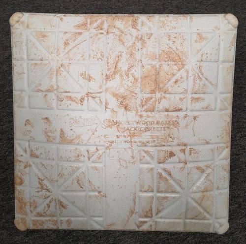 Photo of Authenticated Game Used Base: 2nd Base for Innings 1 to 3 (Aug 16 - 18, 19 vs SEA): In Place for Guerrero Jr's 14th Career HR