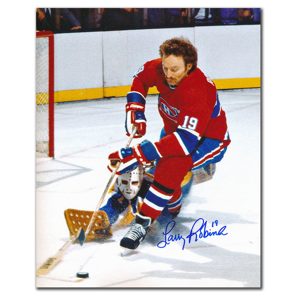 Larry Robinson Montreal Canadiens vs LESSARD Autographed 8x10