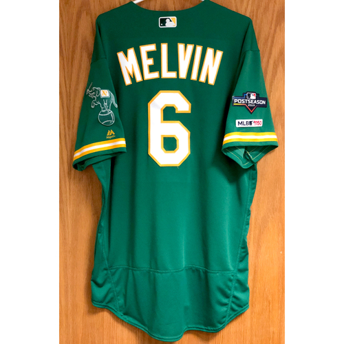 Photo of Game-Used Jersey - Bob Melvin w/ 2019 Postseason Patch