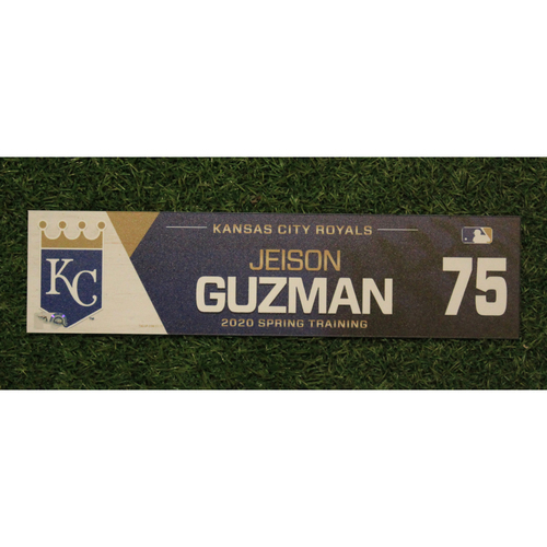 Photo of Game-Used Spring Training Locker Tag: Jeison Guzman #75