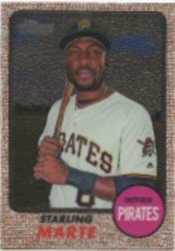 Photo of 2017 Topps Heritage Chrome #THC459 Starling Marte