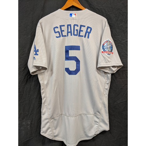 Photo of Corey Seager Team-Issued 2018 Road Jersey