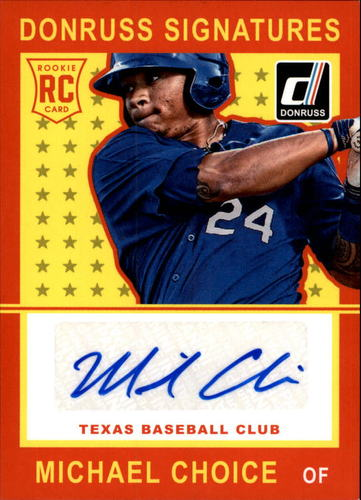 Photo of 2014 Donruss Signatures #35 Michael Choice