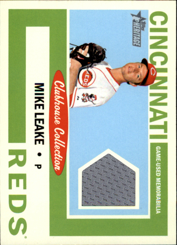 Photo of 2013 Topps Heritage Clubhouse Collection Relics #ML Mike Leake