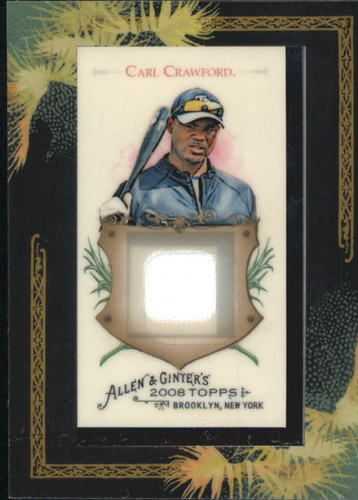 Photo of 2008 Topps Allen and Ginter Relics #CC1 Carl Crawford Jsy