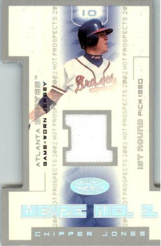 Photo of 2002 Hot Prospects We're Number One Memorabilia #CJ Chipper Jones Jsy