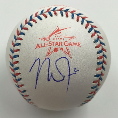 Photo of Mike Trout Autographed 2017 All Star Game Baseball