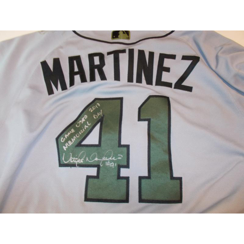 Autographed Game-Used Memorial Day Jersey: Victor Martinez