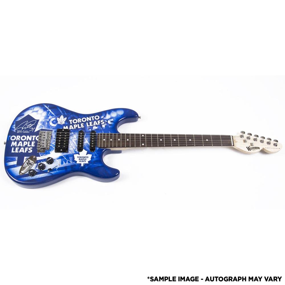 Auston Matthews Toronto Maple Leafs Autographed Woodrow Guitar with 2017 Calder Inscription