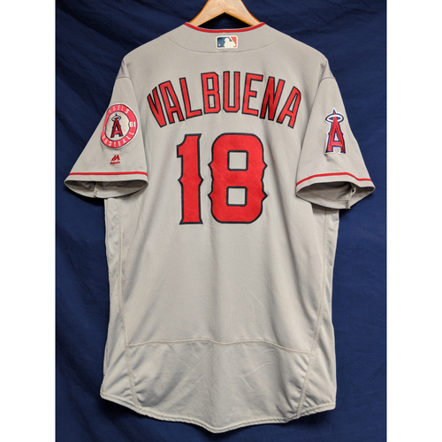 Photo of Luis Valbuena Game-Used Road Jersey