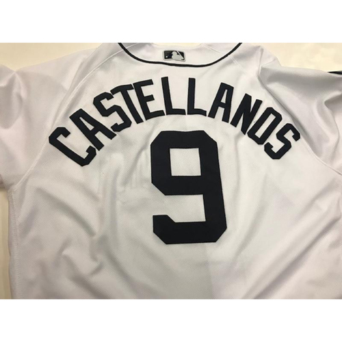 Photo of Game-Used Nicholas Castellanos Home Jersey