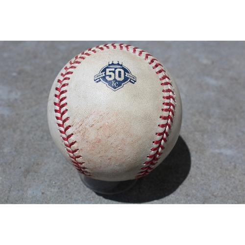 Photo of Game-Used Baseball: Strike Pitched to Shohei Ohtani (batting)  (CWS at KC - 4/13/18)